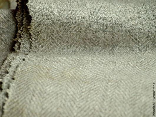 Шитье ручной работы. Ярмарка Мастеров - ручная работа. Купить Лён ткань антикварный. Handmade. Серый, антиквариат, антикварная