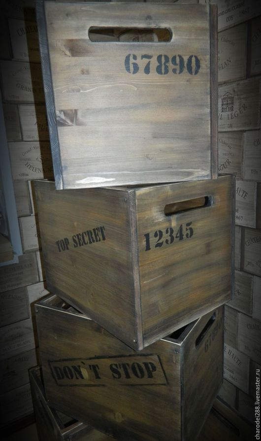 Мебель ручной работы. Ярмарка Мастеров - ручная работа. Купить Ящик в стиле ЛОФТ. Handmade. Коричневый, лофт