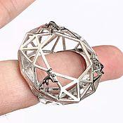 Винтаж handmade. Livemaster - original item Exclusive large Forward to goal ring, 925 sterling silver. Handmade.