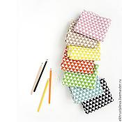 Материалы для творчества ручной работы. Ярмарка Мастеров - ручная работа Небеленый лен с треугольниками, 6 цветов. Handmade.