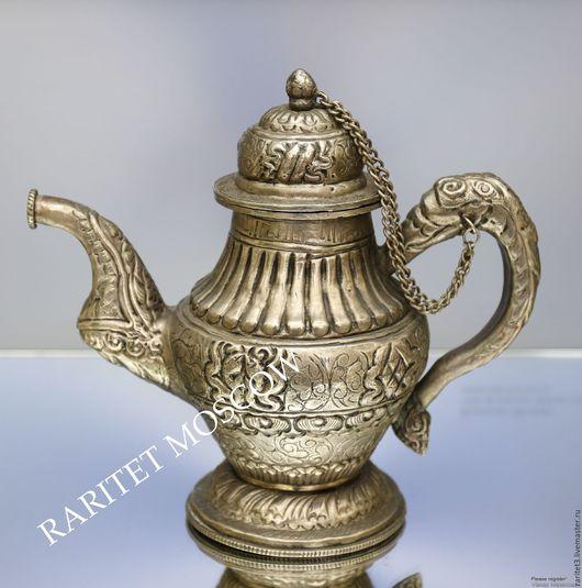 Винтажная посуда. Ярмарка Мастеров - ручная работа. Купить Чайник антикварный кофейник латунь серебрение 7. Handmade. Комбинированный, Серебрение