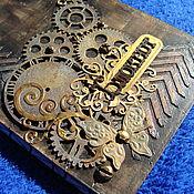 Канцелярские товары ручной работы. Ярмарка Мастеров - ручная работа Блокнот в стиле стимпанк. Handmade.