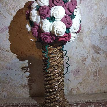 Для дома и интерьера ручной работы. Ярмарка Мастеров - ручная работа Вазы:Ваза с цветами. Handmade.