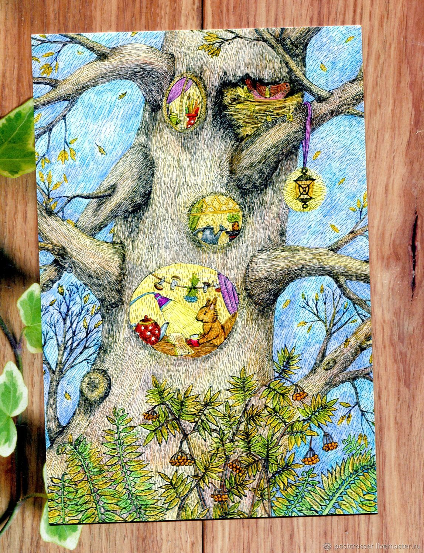 Деревянные открытки для посткроссинга