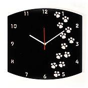 Для дома и интерьера ручной работы. Ярмарка Мастеров - ручная работа Часы из акрилового стекла Наследили. Handmade.
