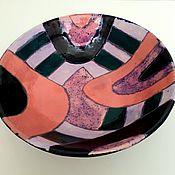 Посуда handmade. Livemaster - original item Plates: painted deep dish. Handmade.