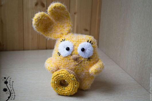 Игрушки животные, ручной работы. Ярмарка Мастеров - ручная работа. Купить Солнечный кролик. Handmade. Желтый, вязаная игрушка, пончик