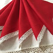 Для дома и интерьера handmade. Livemaster - original item Napkin linen 6-pieces