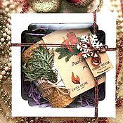 Подарочные боксы ручной работы. Ярмарка Мастеров - ручная работа Подарочный набор со свечой и аромасаше ручной работы. Handmade.