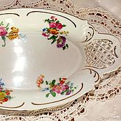 Vintage kitchen utensils handmade. Livemaster - original item A large porcelain dish of fruit from Schumann,Artzberg. Bavaria. Handmade.