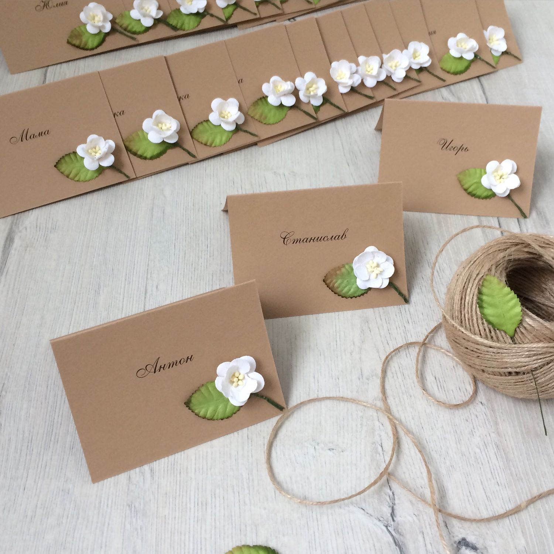 Свадебные приглашения из крафт бумаги