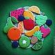 """Кулинарные сувениры ручной работы. Ярмарка Мастеров - ручная работа. Купить """"Цвет лета"""" набор пряников - козуль. Handmade. Разноцветный"""