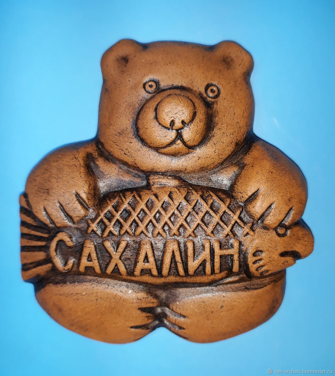 Souvenir magnet ' bear With fish', Magnets, Tymovskoe,  Фото №1
