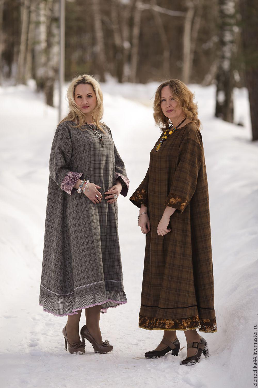 Зимние платье бохо