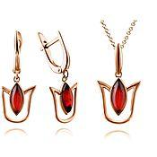 Украшения handmade. Livemaster - original item Jewelry sets, 925 silver, with natural amber. Handmade.