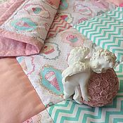 Работы для детей, handmade. Livemaster - original item Patchwork quilt for newborn baby ice Cream. Handmade.