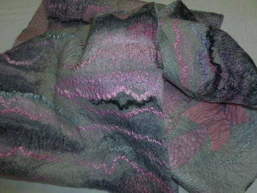 Шарфы и шарфики ручной работы. Ярмарка Мастеров - ручная работа. Купить Валяный шарф-снуд Пепельно-розовый Париж. Handmade.
