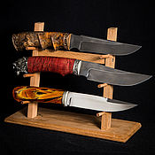 Сувениры и подарки handmade. Livemaster - original item Stand for 3 knives with beech wood. Handmade.