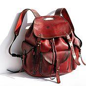 Сумки и аксессуары handmade. Livemaster - original item Leather backpack handmade art №77 T author`s work by Max Ginger. Handmade.