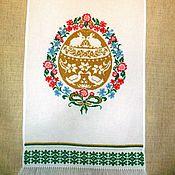 Подарки к праздникам ручной работы. Ярмарка Мастеров - ручная работа Пасхальное полотенце. Handmade.