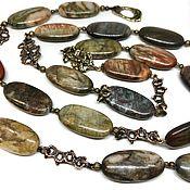Украшения handmade. Livemaster - original item Long Assorted beads. Natural stones, author`s accessories.. Handmade.