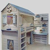 Для дома и интерьера ручной работы. Ярмарка Мастеров - ручная работа Уникальная кроватка с рабочим местом. Handmade.