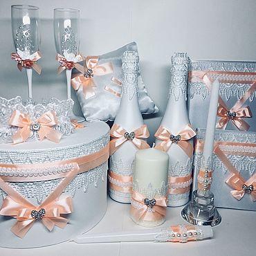 Свадебный салон ручной работы. Ярмарка Мастеров - ручная работа Свадебный набор «Персиковая Свадьба». Handmade.