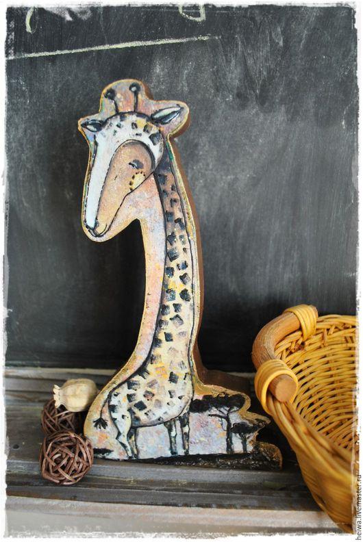 """Детская ручной работы. Ярмарка Мастеров - ручная работа. Купить деревянная фигурка """" Жираф"""". Handmade. Рыжий, жирафик"""