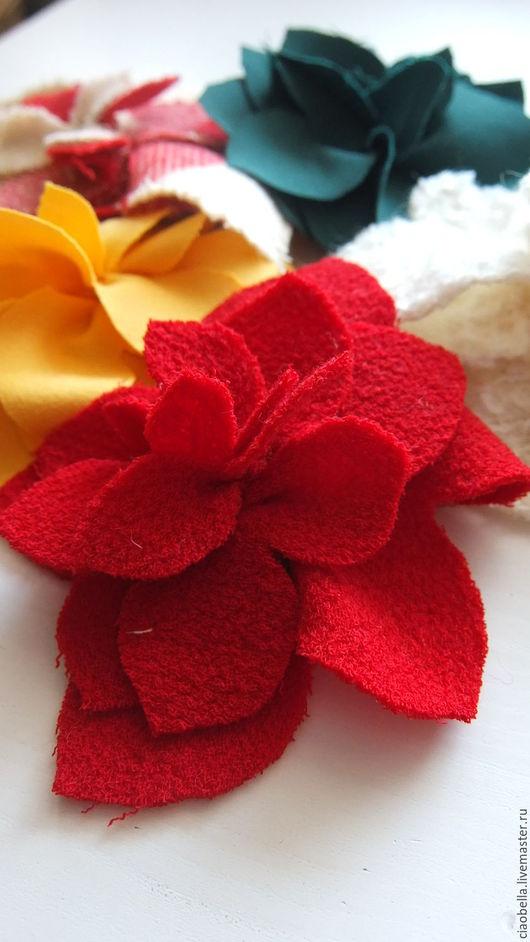 Броши ручной работы. Ярмарка Мастеров - ручная работа. Купить Брошки-цветы. Handmade. Комбинированный, брошь в форме цветка