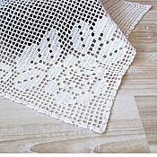 Для дома и интерьера ручной работы. Ярмарка Мастеров - ручная работа салфетка филейная вязаная салфетка, 33х39 см белая. Handmade.