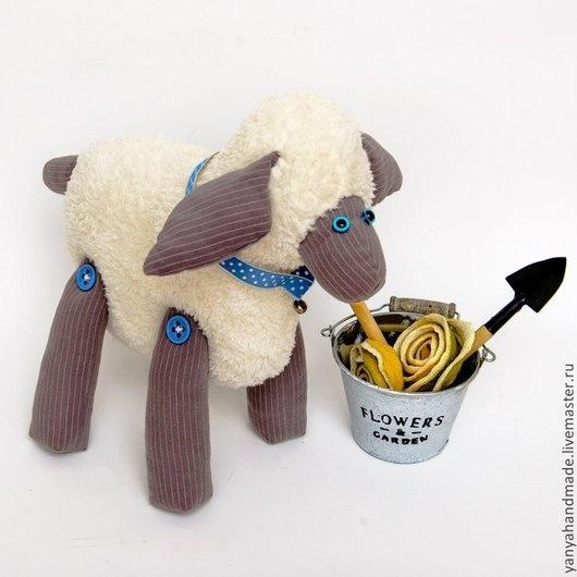 Игрушки животные, ручной работы. Ярмарка Мастеров - ручная работа. Купить Текстильная овечка Молли. Handmade. Текстильная игрушка