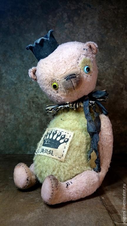 Мишки Тедди ручной работы. Ярмарка Мастеров - ручная работа. Купить PLAYFUL KING. Handmade. Бледно-розовый, авторская игрушка