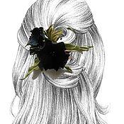 Украшения handmade. Livemaster - original item THE COLORS OF THE SKIN.Hair clip machine hair ELEGY.Silk flowers. Handmade.