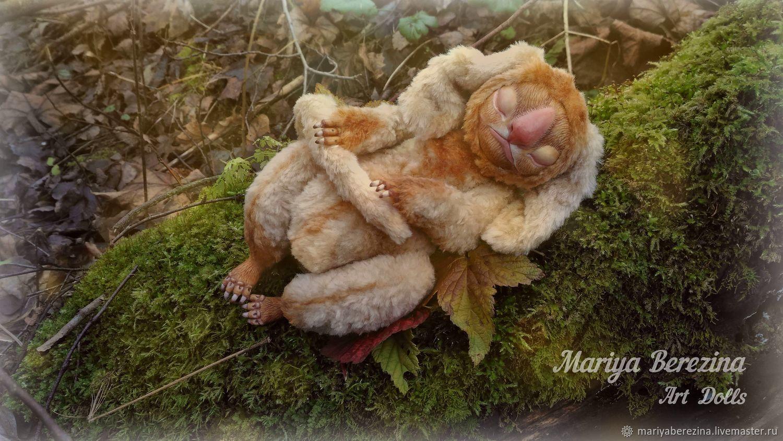 Моховой Спун. Интерьерная кукла, Шарнирная кукла, Северный,  Фото №1