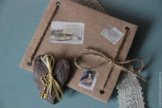 Персональные подарки ручной работы. Ярмарка Мастеров - ручная работа. Купить Сердце послание. Handmade. Коричневый, сердце с ключом, конверт