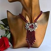 Украшения handmade. Livemaster - original item Necklace Granat Rodolit ORCHID Authors work. Handmade.