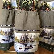 """Одежда ручной работы. Ярмарка Мастеров - ручная работа """"Утки в елках 2"""" юбка с сумкой. Handmade."""