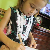 Работы для детей, handmade. Livemaster - original item Light cotton dresses. Handmade.