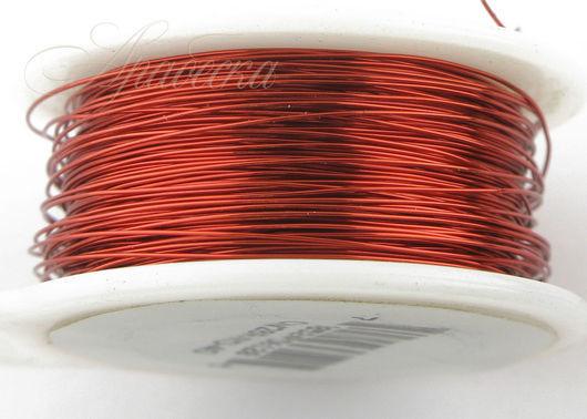 Проволока медная красного цвета 0.33мм (28ga) 36,58м/упак BEADSMITH (США)