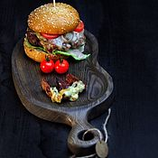 Посуда handmade. Livemaster - original item Board for the submission of burgers and meat,