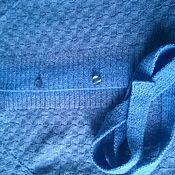 Одежда ручной работы. Ярмарка Мастеров - ручная работа Вязаная безрукавка с поясом и воротником. Handmade.