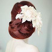 Свадебный салон ручной работы. Ярмарка Мастеров - ручная работа Шелковые розы для прически. Handmade.