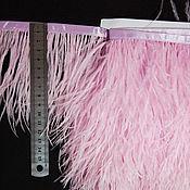 handmade. Livemaster - original item Trim of ostrich feathers 10-15 cm pink. Handmade.
