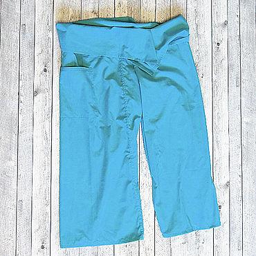 Одежда ручной работы. Ярмарка Мастеров - ручная работа Штаны Тайский рыбак фишермены для массажа, для йоги. Handmade.