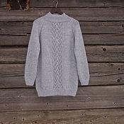 Одежда ручной работы. Ярмарка Мастеров - ручная работа свитер-платье, серый свитер, оверсайз свитер. Handmade.