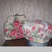 Аксессуары ручной работы. Ярмарка Мастеров - ручная работа Комплект берет и сумка валяные Цветы. Handmade.
