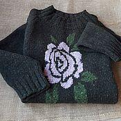 Одежда ручной работы. Ярмарка Мастеров - ручная работа Платье вязаное из твида. Handmade.