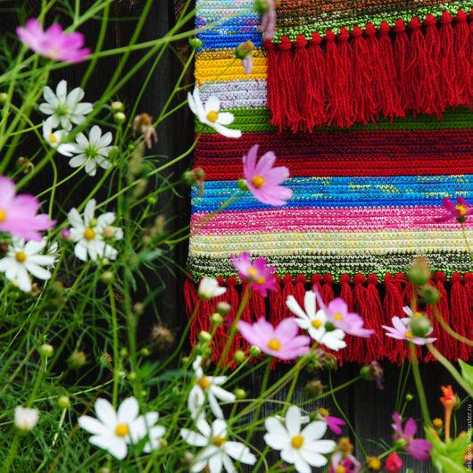 """Текстиль, ковры ручной работы. Ярмарка Мастеров - ручная работа. Купить Дорожка длинная """"Лето красное"""". Handmade. Коврик, ковры"""