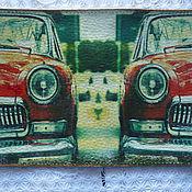 Канцелярские товары handmade. Livemaster - original item Passport cover Soviet Volga red. Handmade.