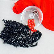 Украшения handmade. Livemaster - original item Necklace with beaded strands !Panther!. Handmade.